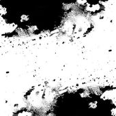 Black messy ink texture with spots and splotches — Stock Photo