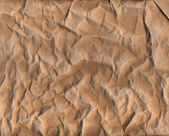 Old brown crumpled paper texture — Stock Photo