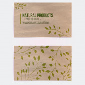 Two sided business card for natural cosmetics  — Stock Vector