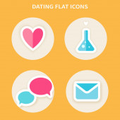 Online dating icons — Stock Vector