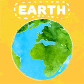 Earth day poster with paint texture — Cтоковый вектор