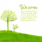 Grünen eco-hintergrund — Stockvektor