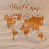 Mapa świata wyciągnąć rękę — Wektor stockowy