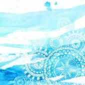 Blå akvarell penseldrag — Stockvektor