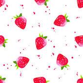 水彩草莓背景. — 图库矢量图片