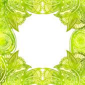 Green watercolor background — Stock Vector