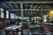Old abandoned factory interior — Stock Photo