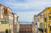 View on street in old Lisbon — Stock Photo