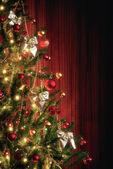 Xmas Tree with decorations — Stock Photo