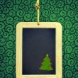 Hanged Slate with Christmas tree — Stock Photo #59123331