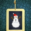 Hanged Slate with Christmas snowman — Stock Photo #59123343