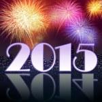 Fireworks celebrating New year of 2015 — Stock Photo #59123357