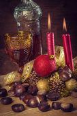Rustic traditional christmas still-life — Stock Photo