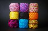 Colorful yarn coils — Stock Photo
