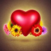 Flowery Heart — Stock Photo