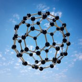 Microscopic molecule hovering — Stock Photo