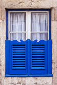 Typical window of old architecture — Stock Photo