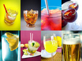 Assorted alcoholic drinks — Stock Photo