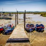 Moored Fishing Boats — Stock Photo #73080603