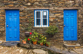 Old stone house in rural village — Stock Photo