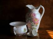 Still life with porcelain — Stock Photo