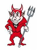 Red devil — Stock Vector