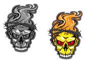 Skull tattoos — Stock Vector