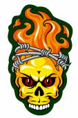 Skull tattoo — Stock Vector