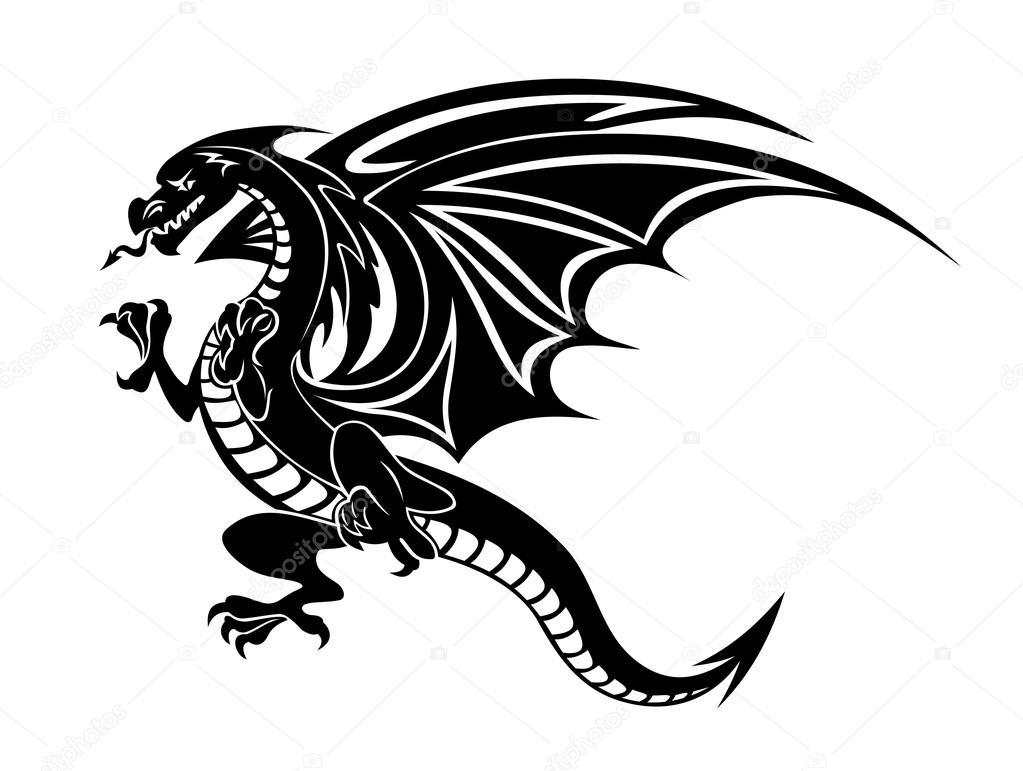 b u00f6se schwarze drachen stockvektor 55856013 Tao Yin and Yang Black and White Black and White Yin and Yang Kittens
