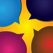 Speech bubble vector icons showing conversation concept — Stock Vector