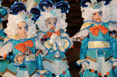TENERIFE, FEBRUARY 17: Carnival groups and costumed characters — Stock Photo