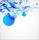 Blue Christmas abstract background — Stock Vector