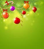 Green Christmas background — Stock Vector
