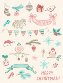 Christmas doodle desing elements — Vetorial Stock