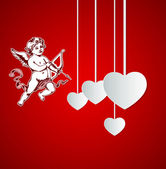 Background with Cupid for Valentine's day — Vetorial Stock