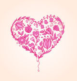 Hand drawn floral heart — Stock Vector