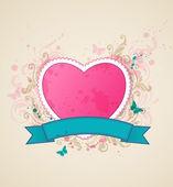 ピンクのハートの背景 — ストックベクタ