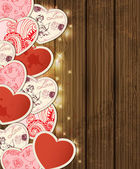 Background with hearts for Valentine's day — 图库矢量图片