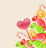 Holiday background with candy — Vettoriale Stock