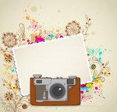 Vintage camera — Stock Vector