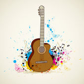 Music background with guitar — Stock Vector