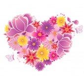 Heart of flowers — Stock Vector
