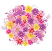 Flowering planet — Stock Vector