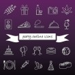 Party outline icons — Stock Vector #52347459