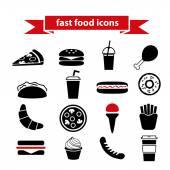 Fast food icons — Stock Vector