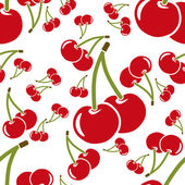 Cherry seamless pattern — Stock Vector