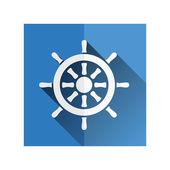 Rudder icon — Stock Vector