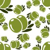 Olive seamless pattern — Stock Vector
