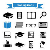 Reading icons — Stock Vector