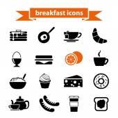 Breakfast icons — Stock Vector